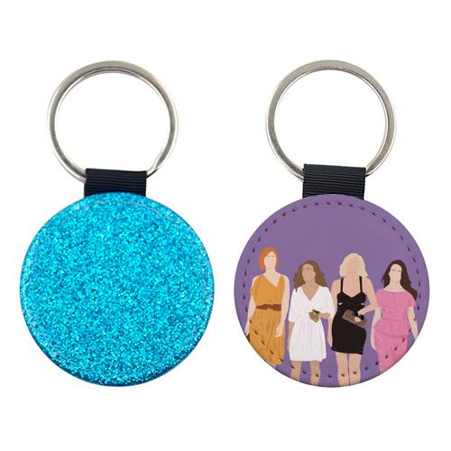 Sex and the city - personalised picture keyring by Cheryl Boland