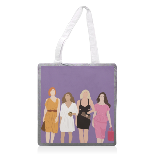 Sex and the city - printed tote bag by Cheryl Boland