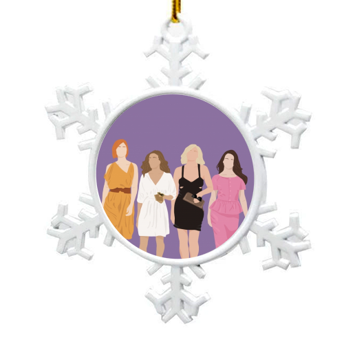 Sex and the city - snowflake decoration by Cheryl Boland