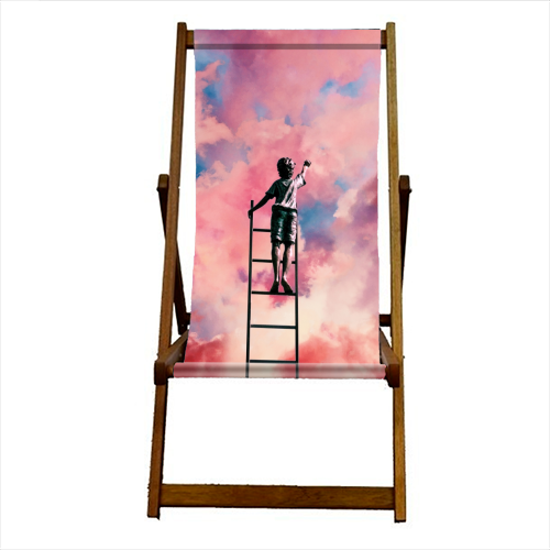 Cloud Painter - canvas deck chair by taudalpoi
