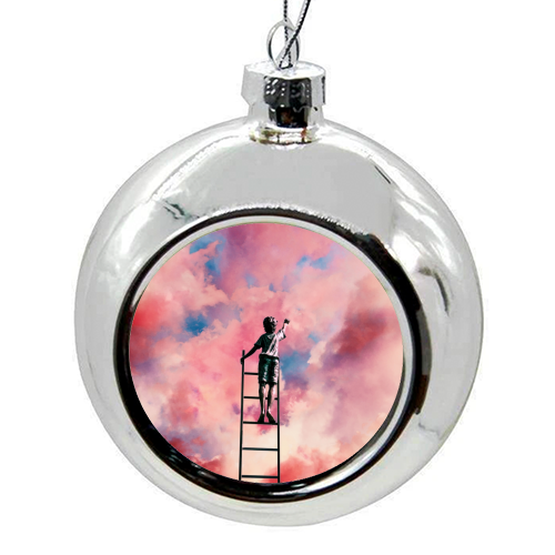 Cloud Painter - colourful christmas bauble by taudalpoi