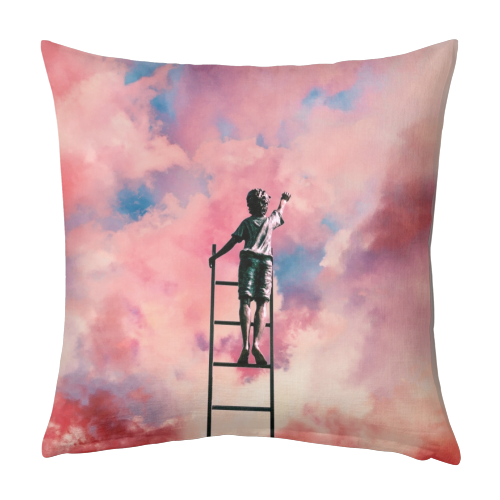 Cloud Painter - designed cushion by taudalpoi