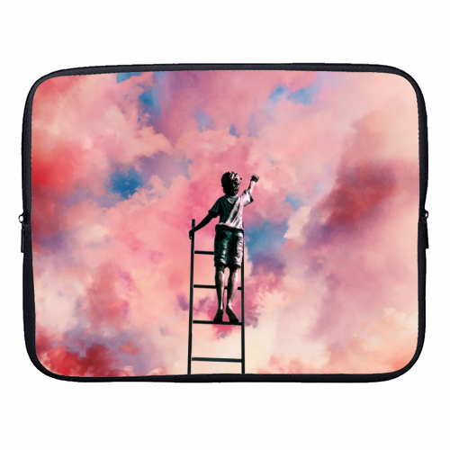 Cloud Painter - designer laptop sleeve by taudalpoi