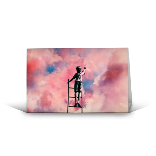 Cloud Painter - funny greeting card by taudalpoi