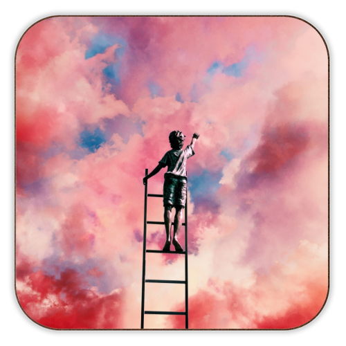 Cloud Painter - personalised drink coaster by taudalpoi