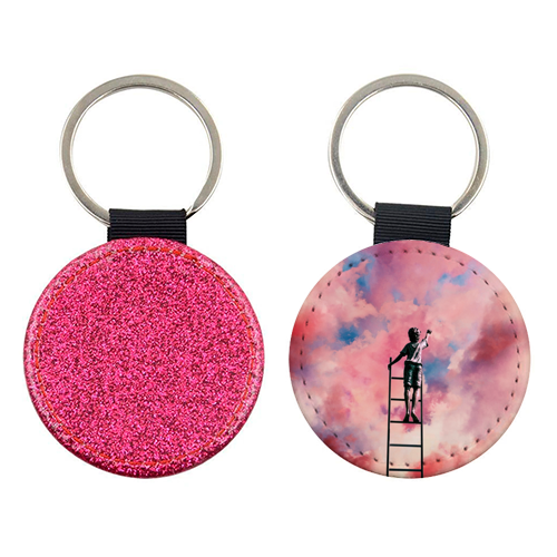 Cloud Painter - personalised leather keyring by taudalpoi