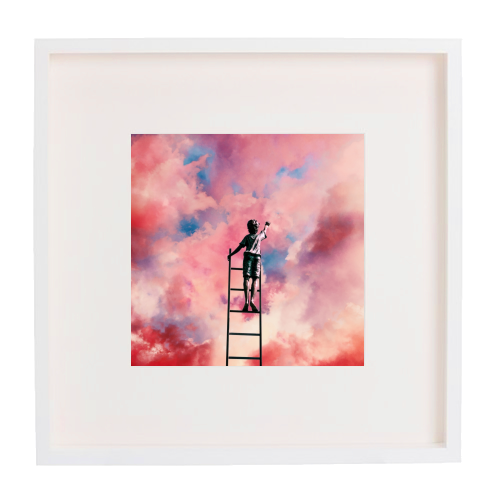 Cloud Painter - printed framed picture by taudalpoi