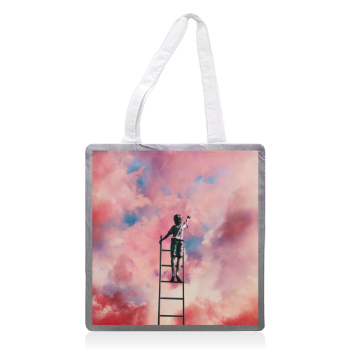 Cloud Painter - printed tote bag by taudalpoi