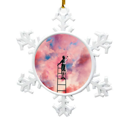 Cloud Painter - snowflake decoration by taudalpoi