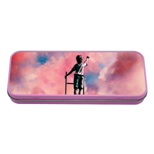 Cloud Painter - tin pencil case by taudalpoi