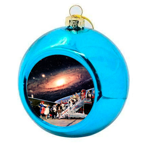 Just Arrived From Space - colourful christmas bauble by taudalpoi