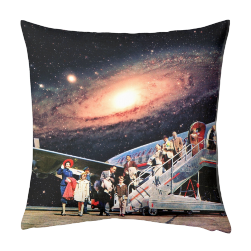 Just Arrived From Space - designed cushion by taudalpoi