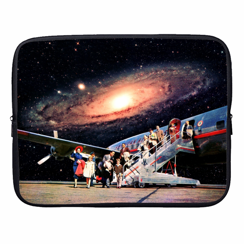 Just Arrived From Space - designer laptop sleeve by taudalpoi