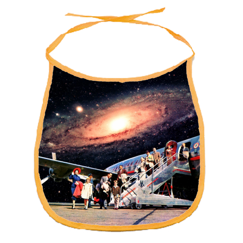 Just Arrived From Space - funny baby bib by taudalpoi