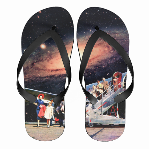 Just Arrived From Space - funny flip flops by taudalpoi