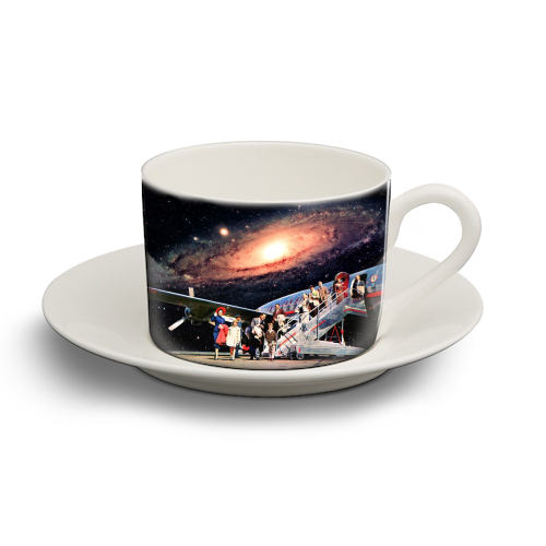 Just Arrived From Space - personalised cup and saucer by taudalpoi