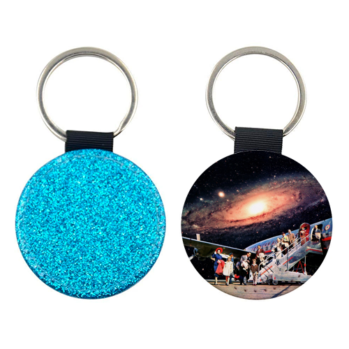 Just Arrived From Space - personalised picture keyring by taudalpoi