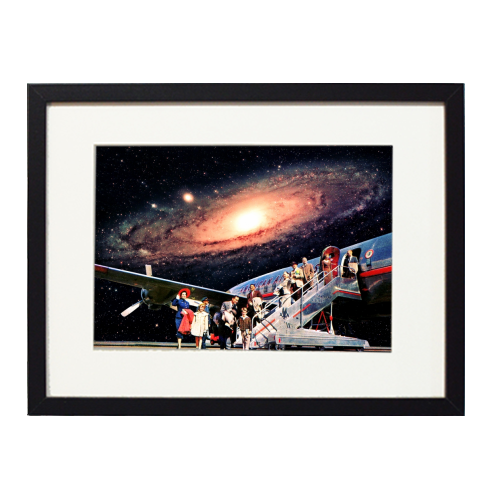 Just Arrived From Space - printed framed picture by taudalpoi