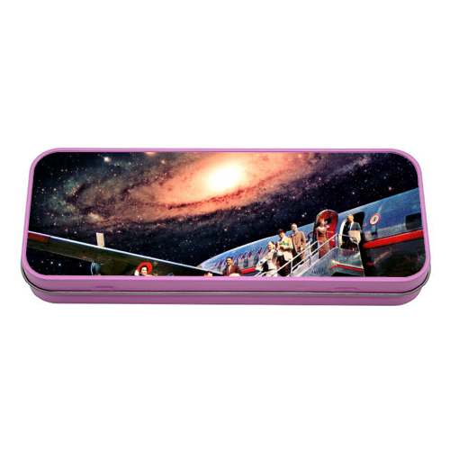 Just Arrived From Space - tin pencil case by taudalpoi