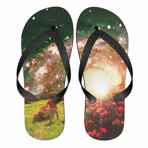 Galactic Botanical Gardens - funny flip flops by taudalpoi