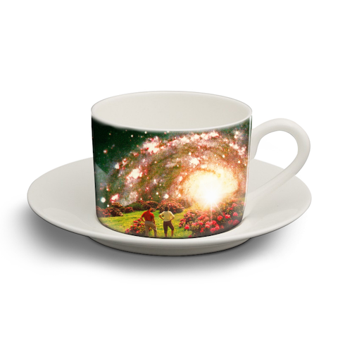 Galactic Botanical Gardens - personalised cup and saucer by taudalpoi