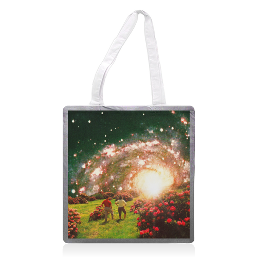 Galactic Botanical Gardens - printed tote bag by taudalpoi