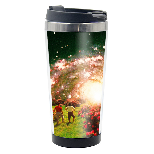 Galactic Botanical Gardens - travel water bottle by taudalpoi