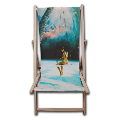Hanging Out In Space - canvas deck chair by taudalpoi
