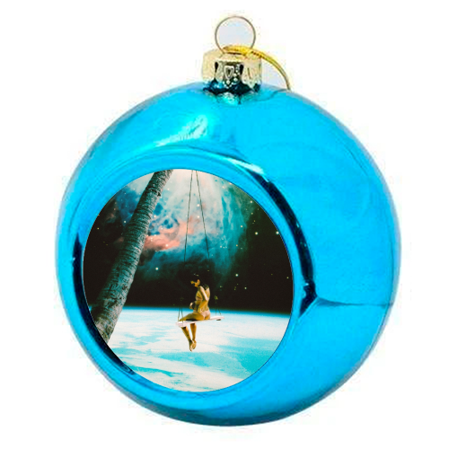 Hanging Out In Space - colourful christmas bauble by taudalpoi