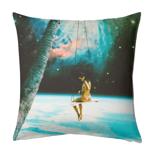 Hanging Out In Space - designed cushion by taudalpoi