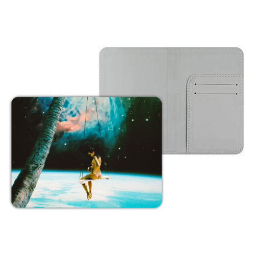 Hanging Out In Space - designer passport cover by taudalpoi