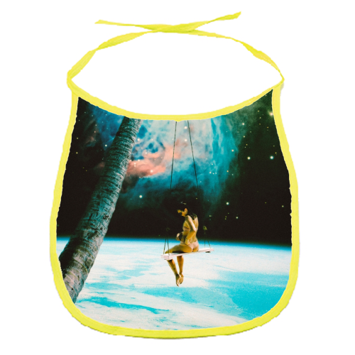 Hanging Out In Space - funny baby bib by taudalpoi