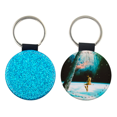 Hanging Out In Space - personalised picture keyring by taudalpoi