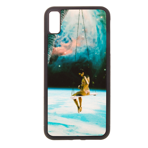 Hanging Out In Space - Rubber phone case by taudalpoi
