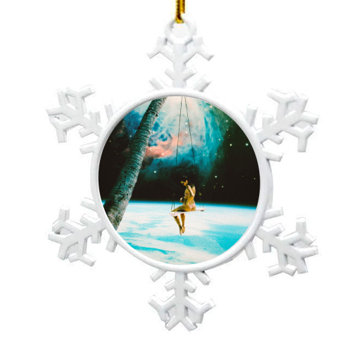 Hanging Out In Space - snowflake decoration by taudalpoi
