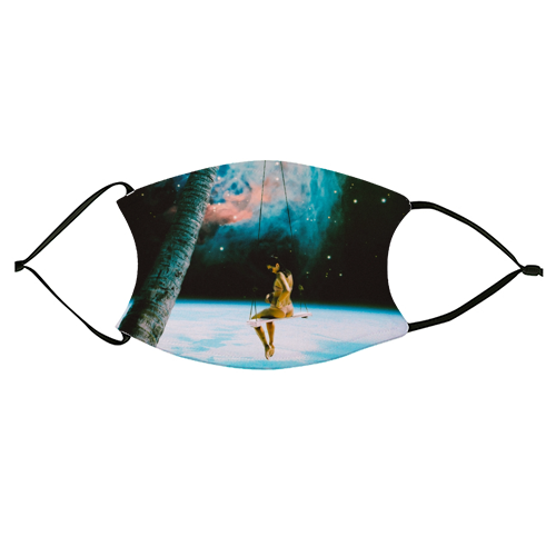 Hanging Out In Space - washable face mask by taudalpoi