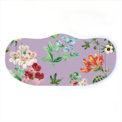 Vintage floral - washable face mask by Cheryl Boland