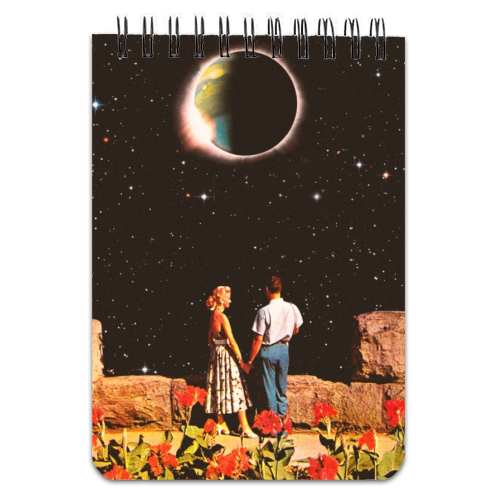 Lovers In Space - designed notebook by taudalpoi
