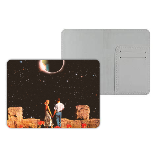 Lovers In Space - designer passport cover by taudalpoi