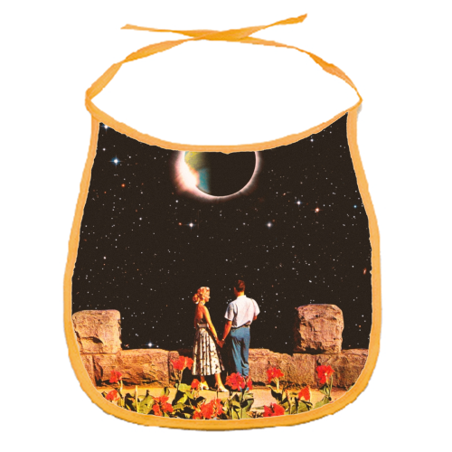 Lovers In Space - funny baby bib by taudalpoi