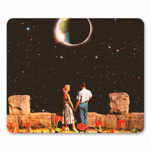 Lovers In Space - personalised mouse mat by taudalpoi