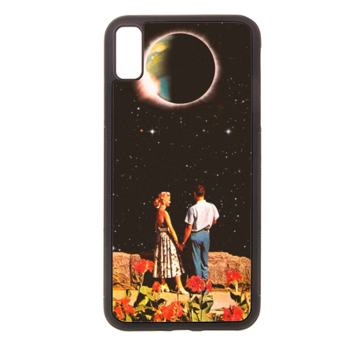 Lovers In Space - Rubber phone case by taudalpoi