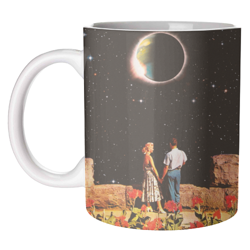 Lovers In Space - unique mug by taudalpoi