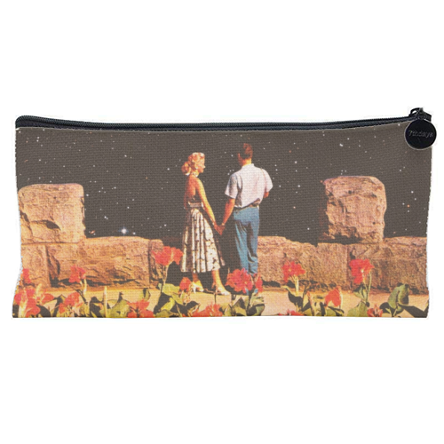 Lovers In Space - unique pencil case by taudalpoi