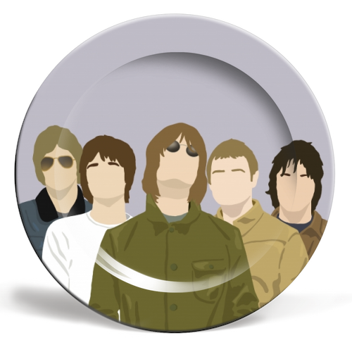 Oasis - personalised dinner plate by Cheryl Boland