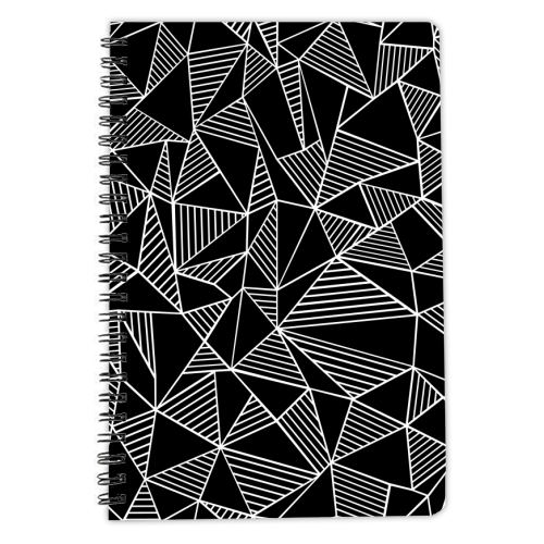 Abstraction Lines With Blocks - designed notebook by Emeline Tate