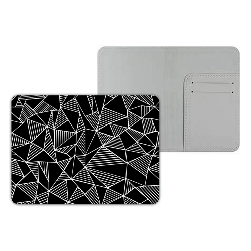 Abstraction Lines With Blocks - designer passport cover by Emeline Tate