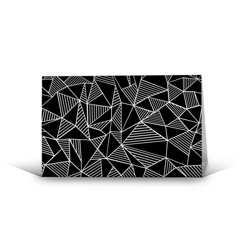 Abstraction Lines With Blocks - funny greeting card by Emeline Tate