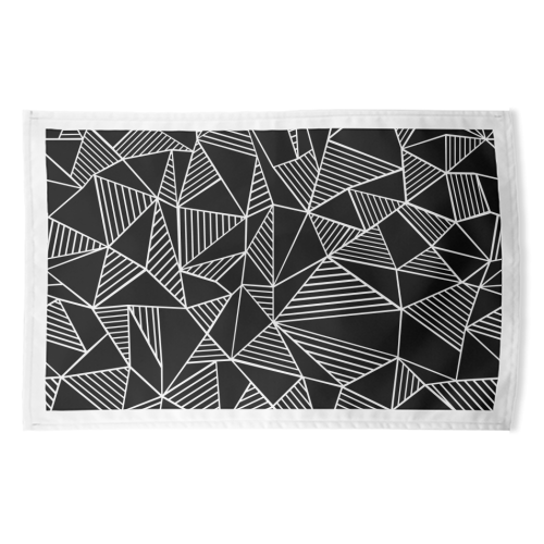 Abstraction Lines With Blocks - funny tea towel by Emeline Tate