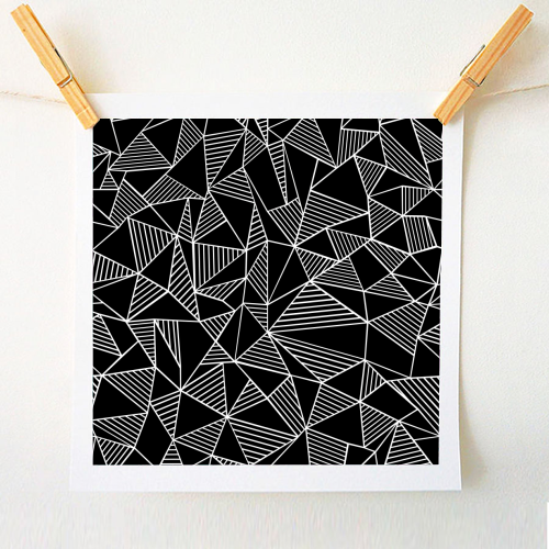 Abstraction Lines With Blocks - original print by Emeline Tate